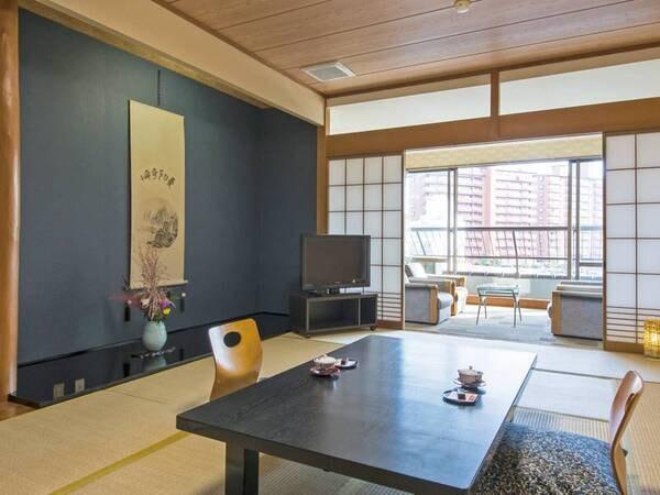 【合計18畳和室/例】12畳+6畳(広縁付き)の広々としたお部屋にご案内