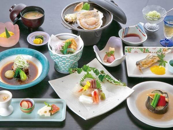 【夕食/例】駿河湾の海の幸と季節の地元食材を使用した会席をご用意