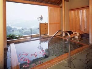 【半露天風呂/風の湯】開放的な空間で癒される