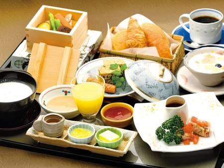 【朝食/洋食の例】和食または洋食を個人ごとに選択可能