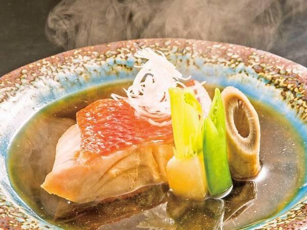 金目鯛・旬魚6点盛/夕食一例