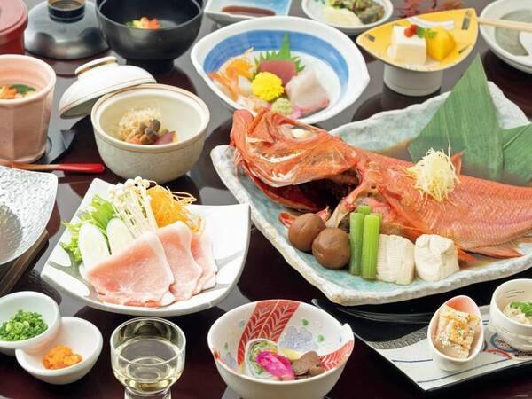 【金目鯛のあたみ煮/例】湯宿一番地名物!脂が乗った金目鯛を熱海名物「梅」を使って煮付ける!