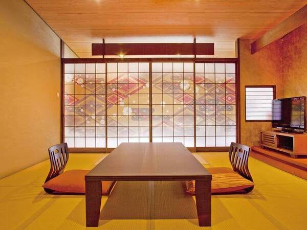 『民芸和モダン客室』の一例