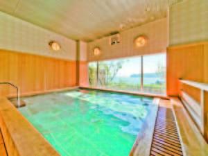 【大浴場】上質な檜風呂