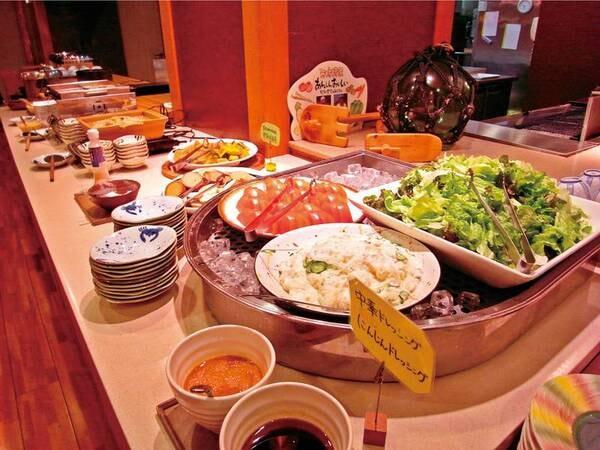 【ミニバイキング/例】夕食はミニ会席に当日選ぶグリル料理、更にミニバイキング付き(現在コロナ対策の為、休止中)