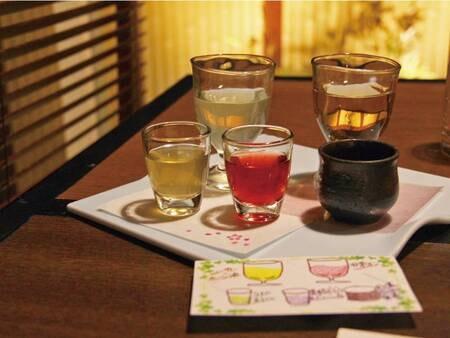 【夕食】食前酒の飲み比べが愉しめる/例