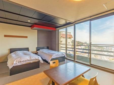 【和洋室/例】ツインベッドと和室スペースのある和洋室をご用意