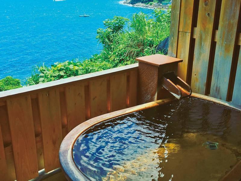 貸切風呂(楕円陶器風呂)/夜中も入浴可能!※入浴時間:15:00-10:00