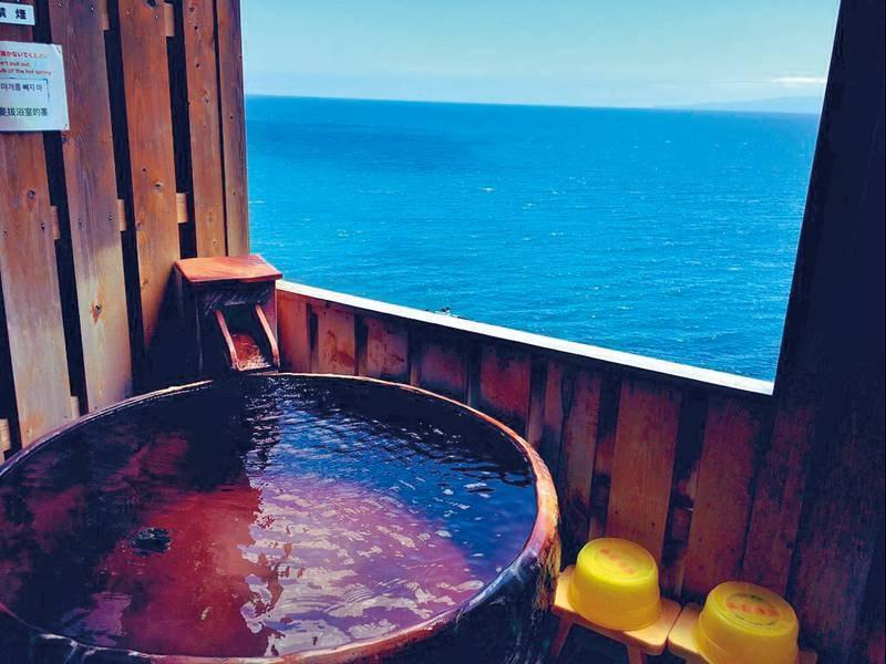 貸切風呂(丸い陶器風呂)/夜中も入浴可能!※入浴時間:15:00-10:00