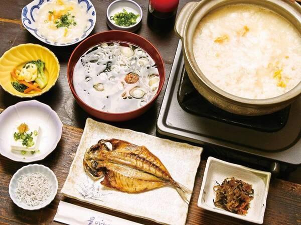 朝食例/たまご雑炊が人気!