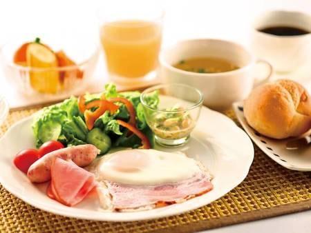 【朝食/洋食の例】和食または洋食をグループ毎に選択