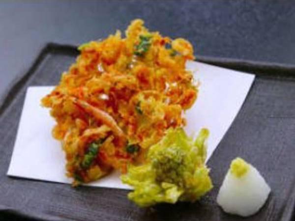 【料理一例】プレミアム懐石 桜海老かき揚げ