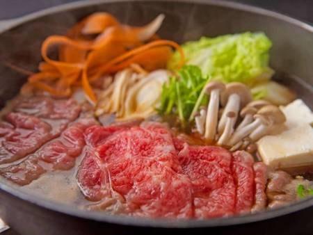 特選黒毛和牛のすき焼き鍋/一例