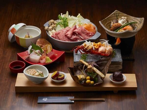 【夕食のみ】特選黒毛和牛のすき焼き鍋/例