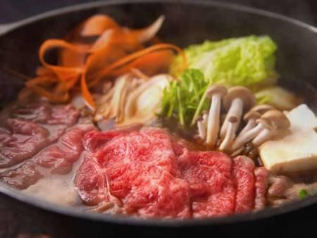 【夕食のみ】特選黒毛和牛のすき焼き鍋/一例