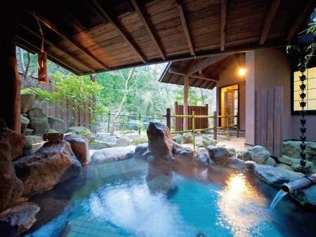 客室露天風呂/一例