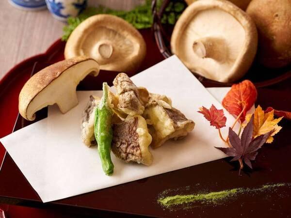 【9/1~11/30】秋の料理フェア ステーキ椎茸の天婦羅 ※イメージ
