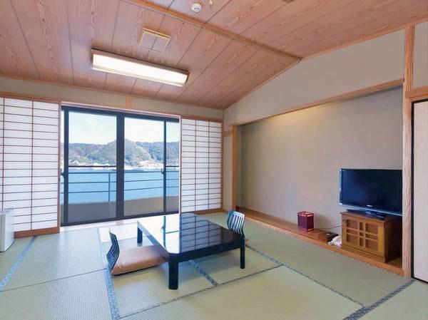 【和室12.5畳/例】松浦湾を望む12.5畳の和室をご用意※バスなし