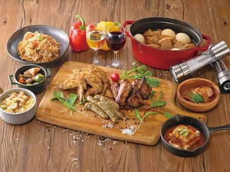 【湯けむりビュッフェ/一例】『肉祭り』フェア開催中!ジューシーなお肉を思う存分堪能!