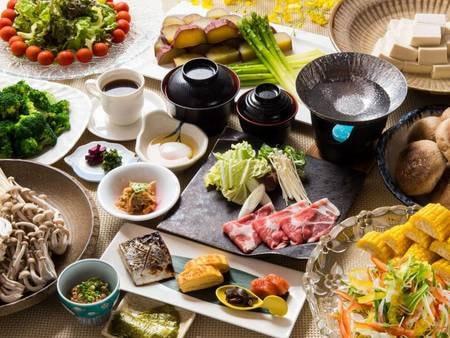 【朝食/和食膳の例】和食膳または和洋バイキングよりグループ毎選択