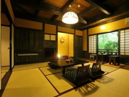【客室】12.5畳の広々和室の離れをご用意。グループにおススメ