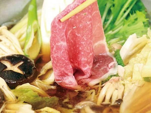 豊後牛しゃぶすき鍋会席一例