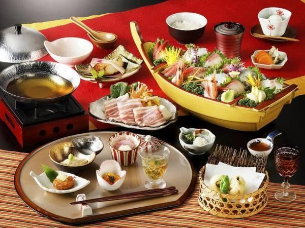 舟盛り付きグレードアッププラン/夕食一例