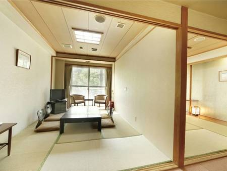 【2間和室/例】合計13.5畳。壁で仕切られた2間和室は3名様より受付可