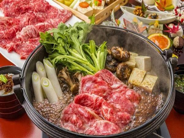 特選佐賀牛と旬菜のすき焼き付き/一例