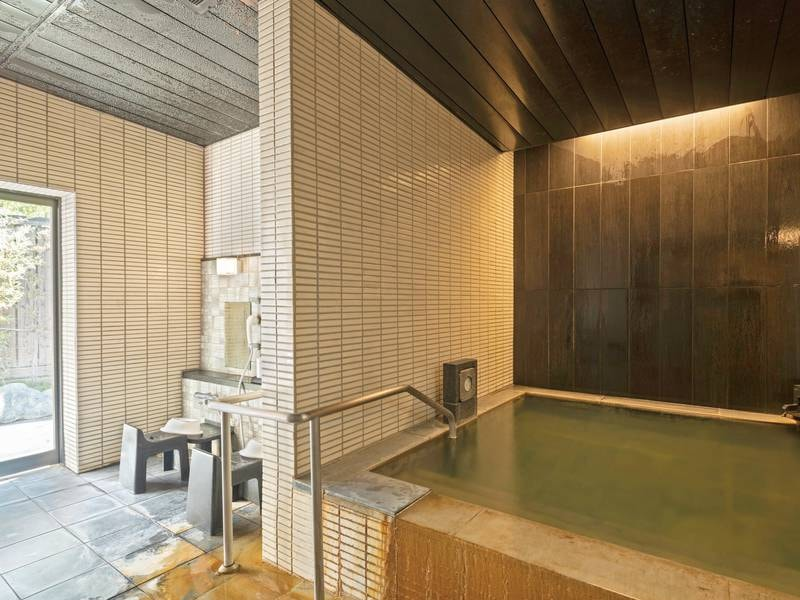 【貸切風呂「明星湯」】こちらの貸切風呂はバリアフリー対応!