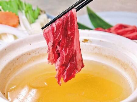 【夕食/例】「国産牛しゃぶしゃぶ」をメインとした内容もアップした会席料理