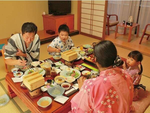 【お部屋食/例】当プランは夕食がお部屋食に※朝食は会場食