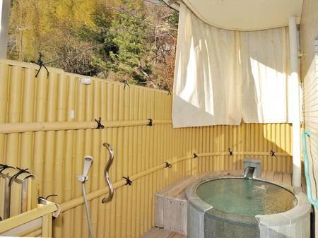 【山側眺望・露天風呂付和洋室/例】24時間お部屋で温泉をひとり占め!