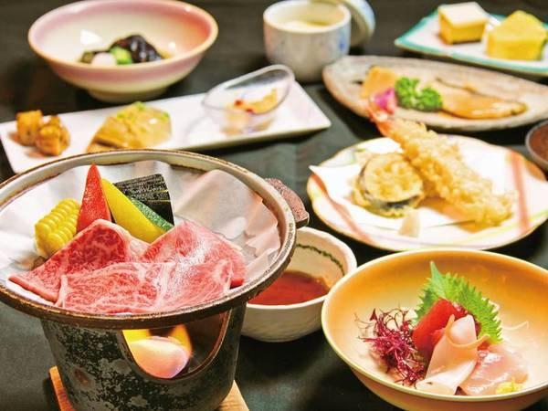 【夕食/例】国産黒毛和牛の陶板焼きが付いた旬御膳