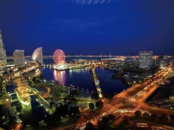 【海側眺望/例】ランドマークタワーや赤レンガ倉庫・ベイブリッジまで、横浜を代表する景色を一望