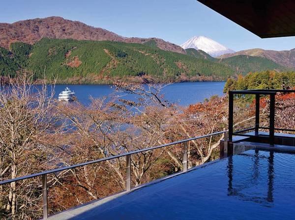本館露天風呂(女性)富士山と芦ノ湖を同時に眺めながら箱根十七湯で最も新しい湯を楽しめる