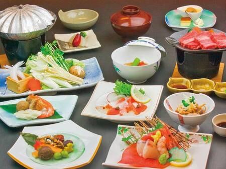【夕食/例】偶数日・奇数日で内容が変わる、和洋折衷の創作会席