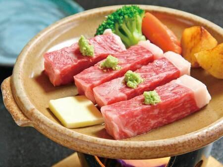 【足柄牛付プラン/例】地元の上質なブランド牛『足柄牛』のステーキ付!
