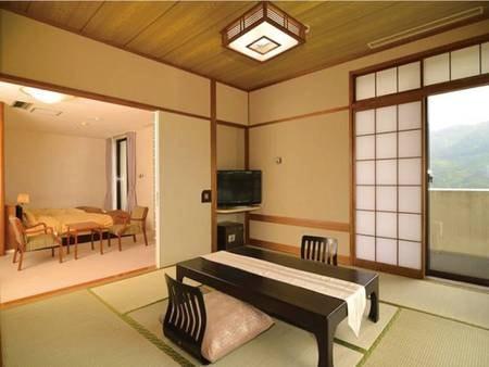【和洋室/例】8畳+23㎡+檜風呂(非温泉)付の客室