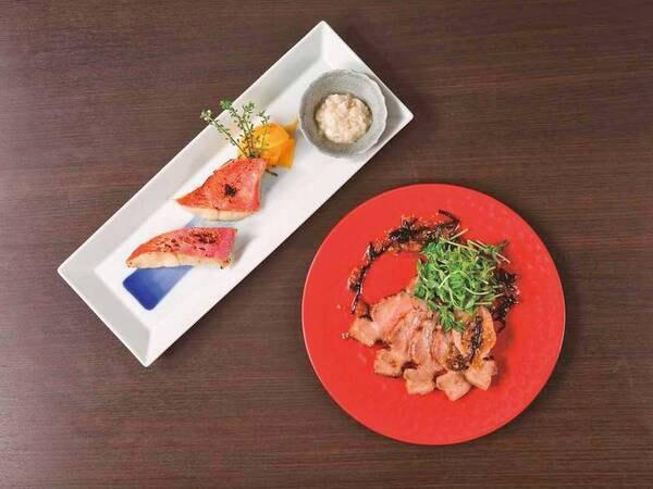 【夕食/例】メイン料理は実演カウンターへ木札をお持ち下さい