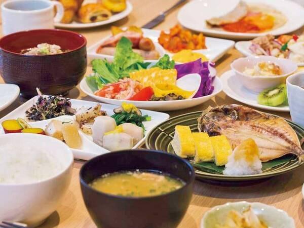 【朝食/例】しっかりゴハン派もヘルシー派も満足の朝食ブッフェ