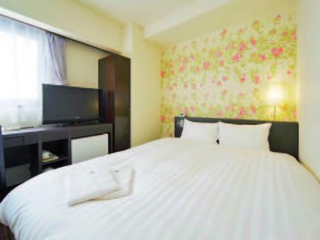 【ダブルルーム/例】ベッド幅160cmのゆったりサイズ