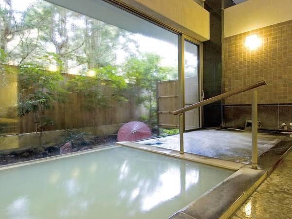 【大浴場】大涌谷のにごり湯を贅沢にかけ流しで