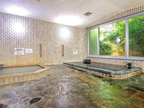 【大浴場】大涌谷温泉と強羅温泉の2つの温泉を楽しめる