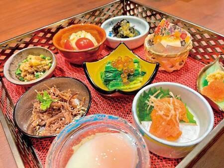 朝から充実の朝食/例