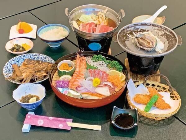 お刺身4種盛&アワビ踊り焼きグルメ会席/例