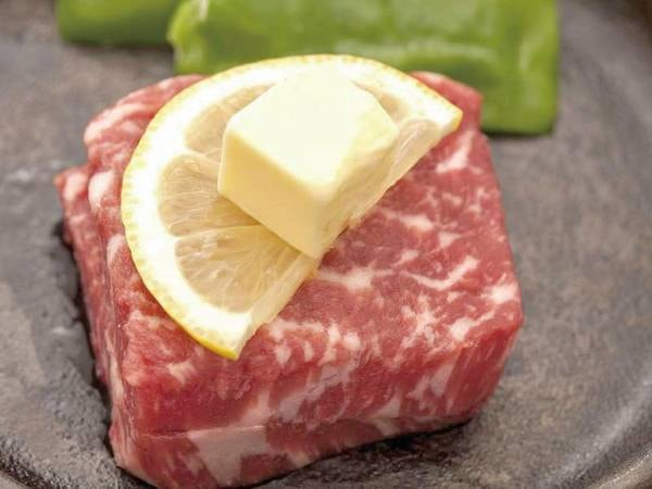 【赤牛ステーキ付きプラン/例】熊本県産の赤牛ステーキ(約120g)を追加!