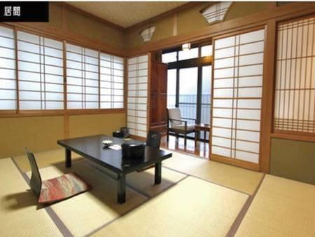 【月の舎 和室/例】広々10畳和室。ごろりと全身を横にして寛げるのは和室の醍醐味