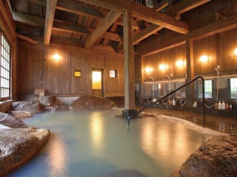 【せせらぎの湯】男性大浴場・内湯