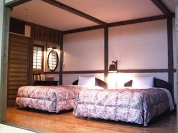 【Aタイプ和洋室/例】和室8畳+洋間約8畳、檜風呂付の客室